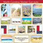 Scrapbook Customs - State Sightseeing Collection - 12 x 12 Sticker Cut Outs - North Carolina