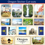 Scrapbook Customs - State Sightseeing Collection - 12 x 12 Sticker Cut Outs - Oregon