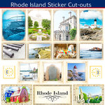 Scrapbook Customs - State Sightseeing Collection - 12 x 12 Sticker Cut Outs - Rhode Island