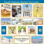Scrapbook Customs - State Sightseeing Collection - 12 x 12 Sticker Cut Outs - South Dakota