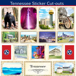 Scrapbook Customs - State Sightseeing Collection - 12 x 12 Sticker Cut Outs - Tennessee