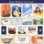 Scrapbook Customs - State Sightseeing Collection - 12 x 12 Sticker Cut Outs - Utah