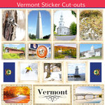 Scrapbook Customs - State Sightseeing Collection - 12 x 12 Sticker Cut Outs - Vermont