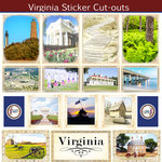 Scrapbook Customs - State Sightseeing Collection - 12 x 12 Sticker Cut Outs - Virginia