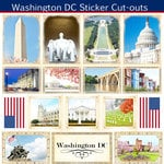 Scrapbook Customs - State Sightseeing Collection - 12 x 12 Sticker Cut Outs - Washington DC
