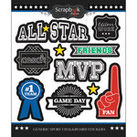 Scrapbook Customs - Sports Collection - Chalkboard Stickers - Generic Sports