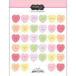 Scrapbook Customs - Cardstock Stickers - Mini Candy Hearts