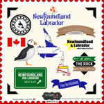 Scrapbook Customs - Canadian Provinces Sightseeing Collection - 12 x 12 Cardstock Stickers - Newfoundland