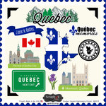 Scrapbook Customs - Canadian Provinces Sightseeing Collection - 12 x 12 Cardstock Stickers - Quebec