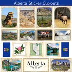 Scrapbook Customs - Canadian Provinces Sightseeing Collection - 12 x 12 Sticker Cut Outs - Alberta