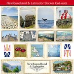 Scrapbook Customs - Canadian Provinces Sightseeing Collection - 12 x 12 Sticker Cut Outs - Newfoundland