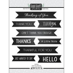 Scrapbook Customs - Cardstock Stickers - Thank You Banners