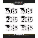 Scrapbook Customs - Cardstock Stickers - Cap and Scroll Year - Repeating