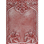 Spellbinders - M-Bossabilities Collection - Embossing Folders - 3 Dimensional - Tiger Lilies