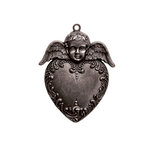 Spellbinders - A Gilded Life Collection - Pendant - Heart Angel - Silver