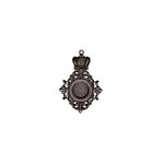 Spellbinders - A Gilded Life Collection - Pendant - Royal Medallion - Silver