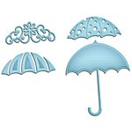 Spellbinders - Shapeabilities Collection - InSpire Die - Umbrella Trio
