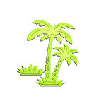 Spellbinders - Shapeabilities Collection - InSpire Die - Paradise Palms