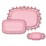 Spellbinders - Shapeabilities Collection - D-Lites Die - Fancy Label Tags Three