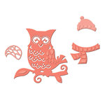 Spellbinders - Holiday Collection - Christmas - D-Lites Die - Winter Owl