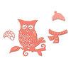 Spellbinders - Holiday Collection - Christmas - D-Lites Die - Winter Owl