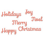 Spellbinders - Holiday Collection - Christmas - D-Lites Die - Holiday Sentiments