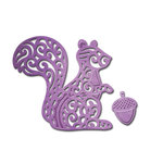 Spellbinders - Shapeabilities Collection - D-Lites Die - Squirrel