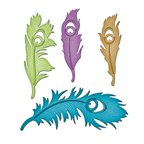 Spellbinders - Shapeabilities Collection - Die - Peacock Feathers