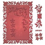 Spellbinders - Holiday Collection - Christmas - Shapeabilities Die - 5 x 7 Holly Frame