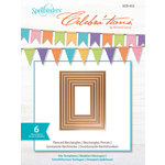 Spellbinders - Celebrations Collection - Die - Pierced Rectangles