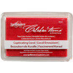 Spellbinders - Celebrations Collection - True Color Fusion Stamp Pad - Captivating Coral