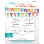 Spellbinders - Celebrations Collection - Clear Acrylic Stamps - Many Words