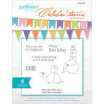 Spellbinders - Celebrations Collection - Clear Acrylic Stamps - Your Day