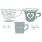 Spellbinders - Celebrations Collection - Clear Acrylic Stamps - Cup for Two