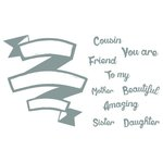 Spellbinders - Celebrations Collection - Clear Acrylic Stamps - Beautiful Friend