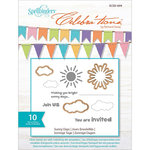 Spellbinders - Celebrations Collection - Die and Clear Acrylic Stamp Set - Sunny Days