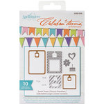 Spellbinders - Celebrations Collection - Die and Clear Acrylic Stamp Set - Sweet Treats