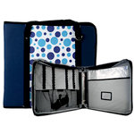 Totally Tiffany - Create and Carry Craft Binder - Bubbly Blue Dot