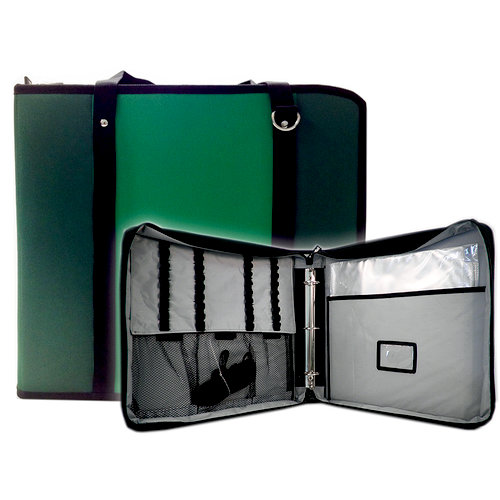 ScrapRack - TravelPack Storage Tote - Light Green and Dark Green