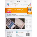Totally Tiffany - Flippin' Craft Storage - 2 Sided Binder Page - 2 Pack