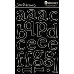 Scenic Route Paper - Chipboard Stencils - Capital Hill Lower Alphabet - Black