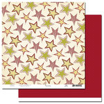 Scenic Route Paper - Garland Collection - Christmas - 12 x 12 Double Sided Paper - Justin Road, CLEARANCE