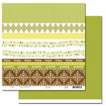 Scenic Route Paper - Garden Grove Collection - 12 x 12 Double Sided Paper - Scrap Strip 3, CLEARANCE