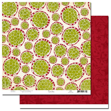 Scenic Route Paper - Roxbury Collection - Christmas - 12x12 Double Sided Paper - Roxbury Dearborne Street, CLEARANCE