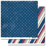 Scenic Route Paper - Liberty Collection - 12x12 Double Sided Paper - Lee Street, CLEARANCE