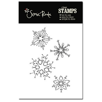Scenic Route Paper - Garland Collection - Clear Acrylic Stamps - Snowflake