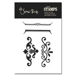 Scenic Route Paper - Clear Acrylic Stamps - Flourish, CLEARANCE
