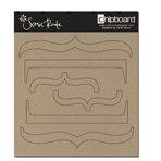 Scenic Route Paper - Plain Chipboard Shapes - Brackets