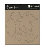 Scenic Route Paper - Plain Chipboard Shapes - Leaves, CLEARANCE