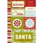 Scenic Route Paper - Rockland Collection - Christmas - Chipboard - Santa Was Here